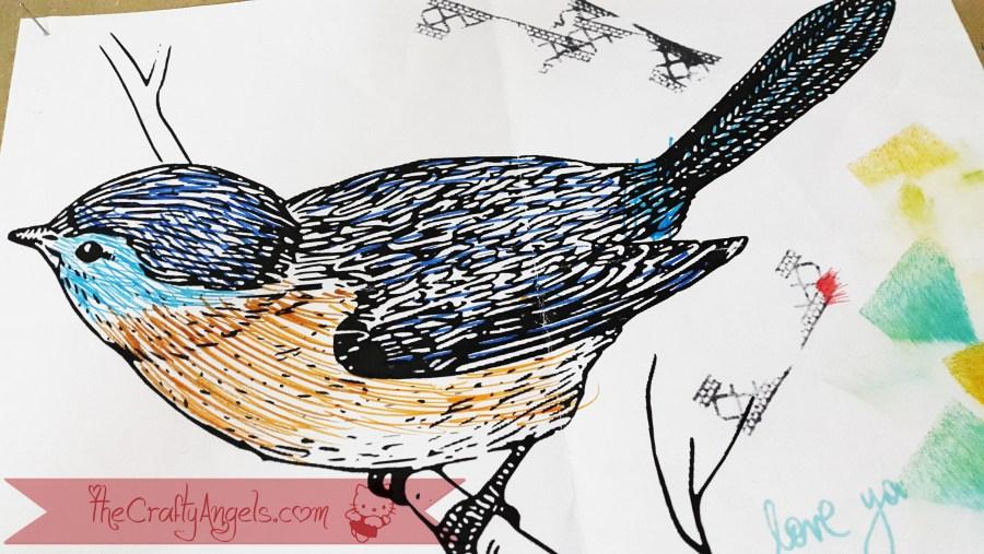 quilled bird quilling combing technique tutorial (24)