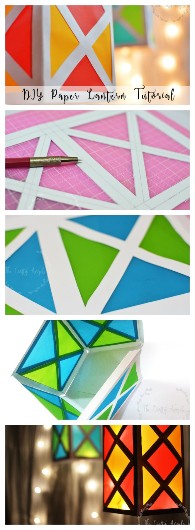 Colorful paper lantern tutorial the crafty angels for Paper lantern tutorial