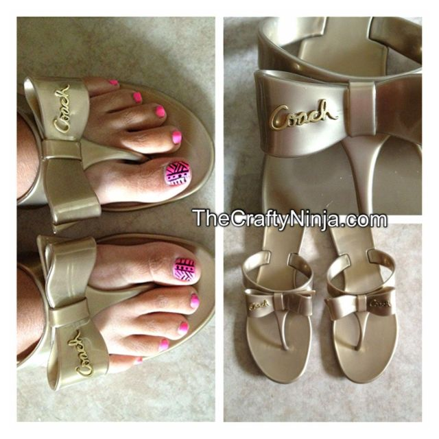 coach bronze jelly sandal