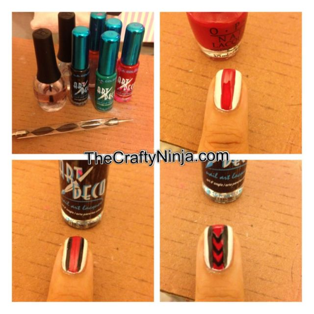 diy tribal nail