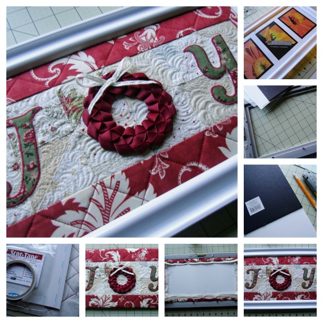 Joy Quilt Framed at The Crafty Quilter