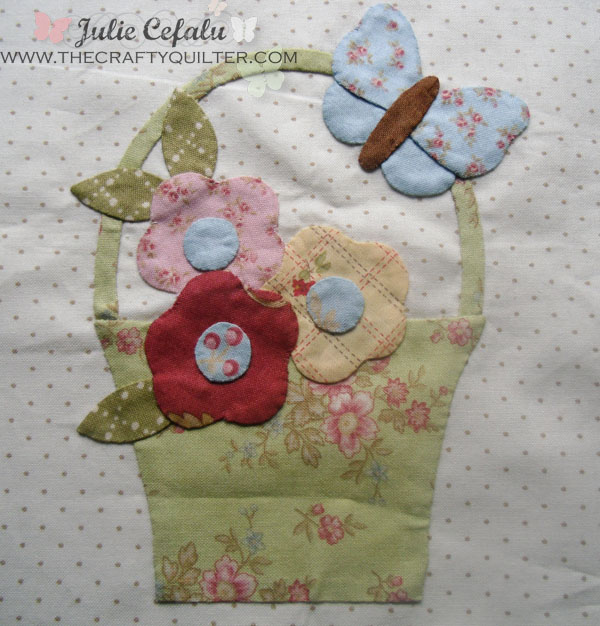 Hand Applique Example by Julie Cefalu