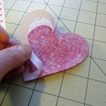 heart shape peel backing