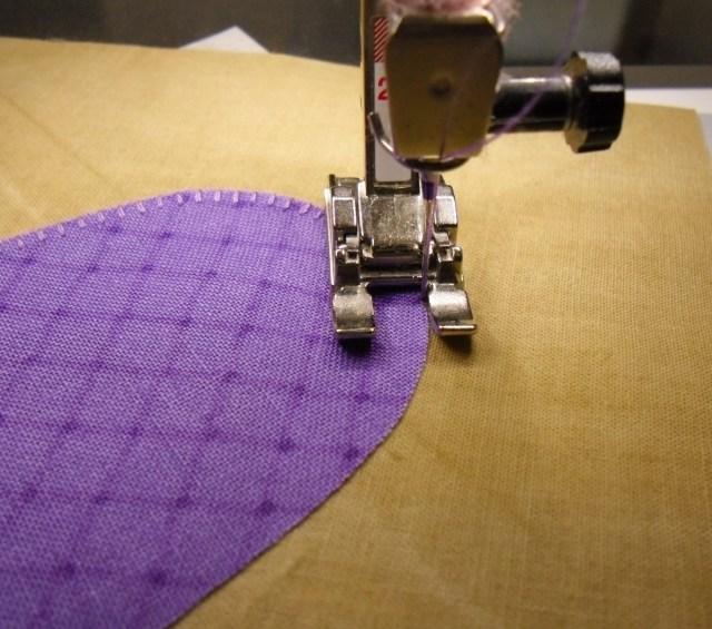 purple tulip presser foot position 2