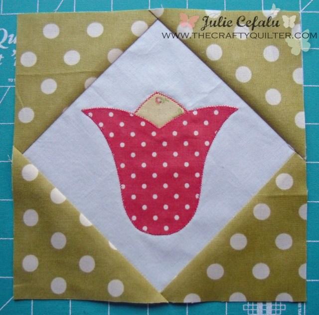 tulip block @ the crafty  Quilter