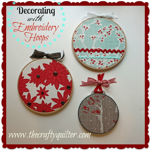 decorating with embroidry hoops