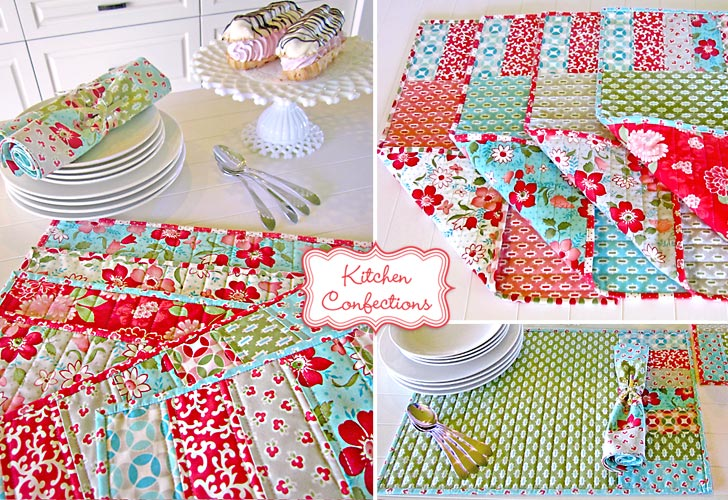 Kitchen Confections Placemat Tutorial @ Sew 4 Home