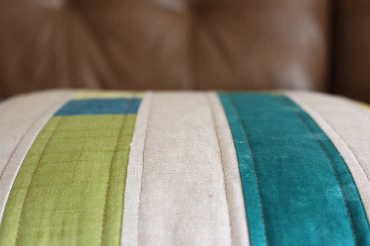 pillow stripe quilting