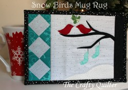 Snow Birds Mug Rug