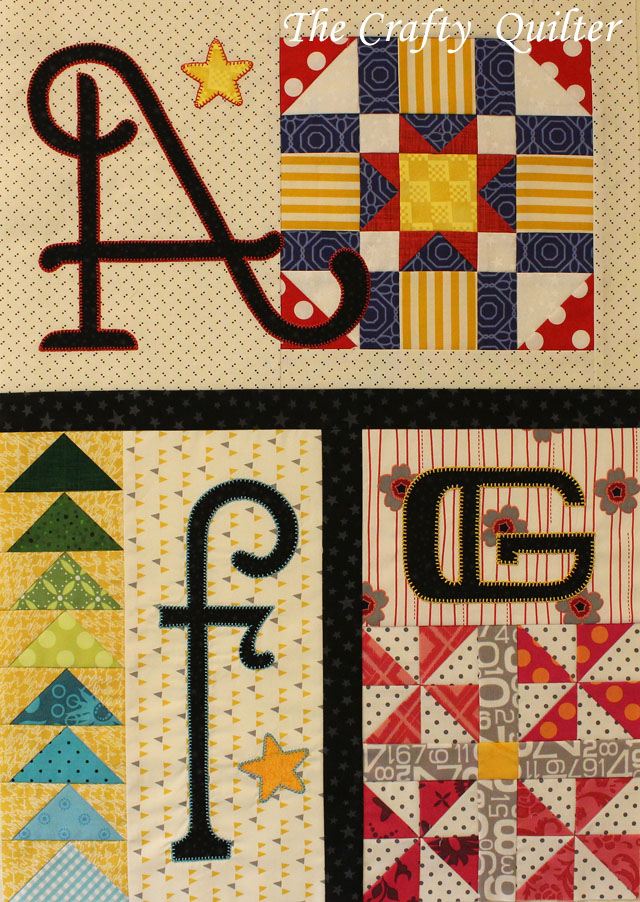 Month 1 of A-Z for Ewe and Me, made by Julie Cefalu