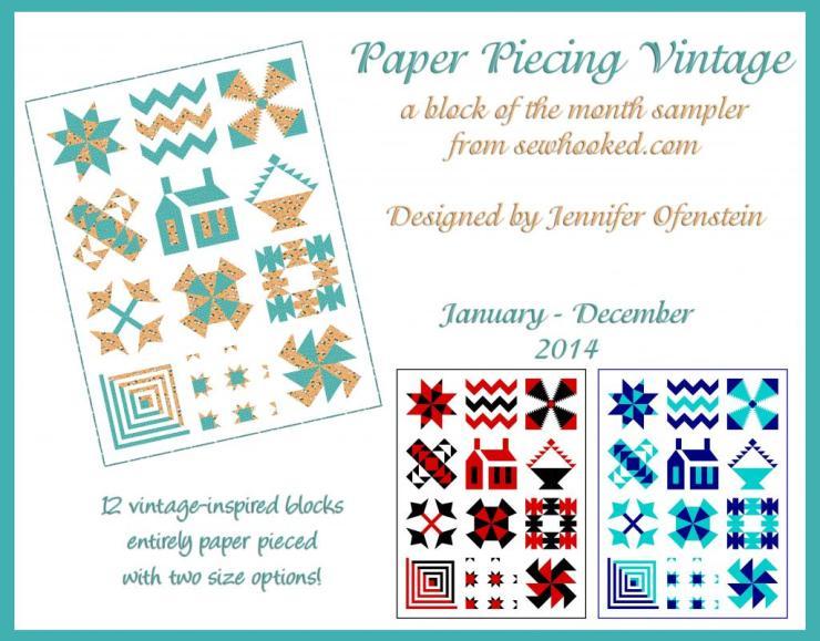 Paper Piecing Vintage @ Sew Hooked