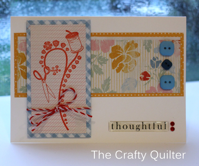 Thoughtful Card @ The Crafty Quilter