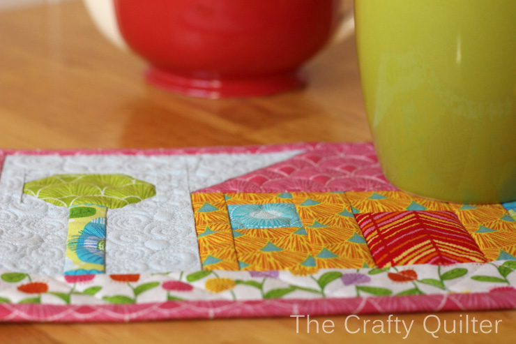Happy House Mug Rug Tutorial by The Crafty Quilter for Benartex