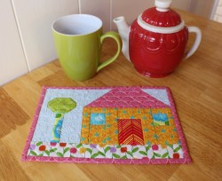 Happy House Mug Rug