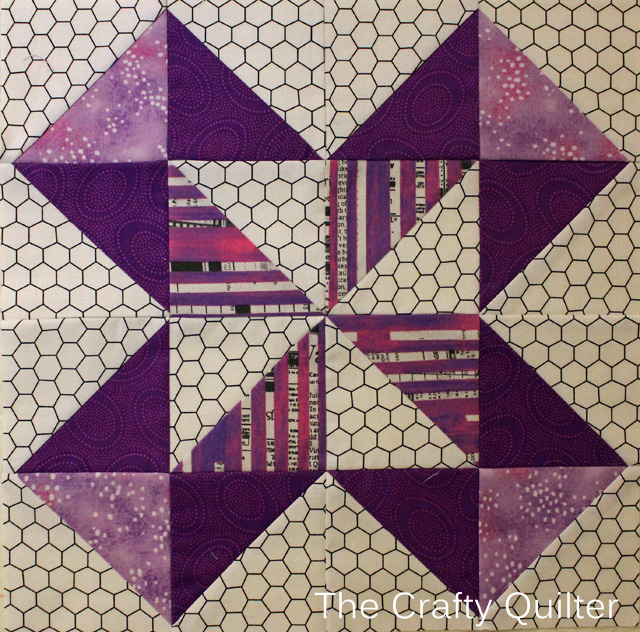 Block 4 of Classic Meets Modern BOM, made by Julie Cefalu