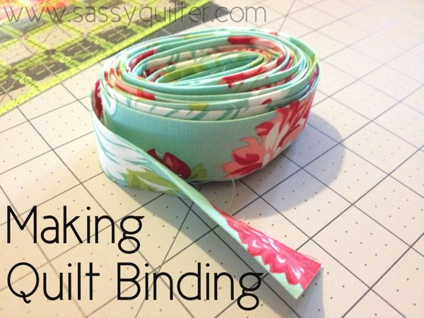 Making Quilt Binding @ The Sassy Quilter