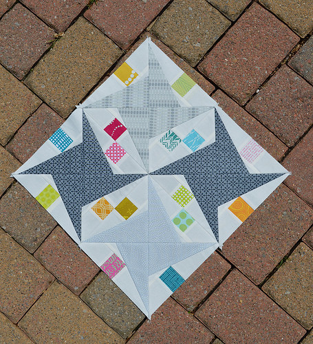 Paper Piecing with Less Waste @ Fabrics & Flowers