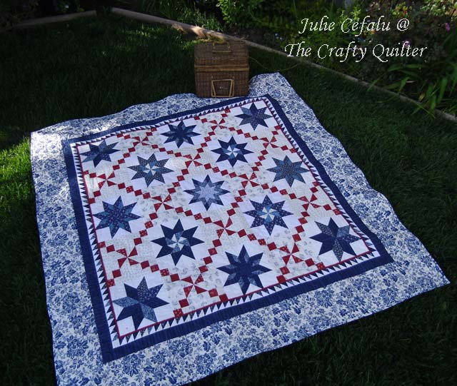 Oh My Many Stars made by Julie @ The Crafty Quilter