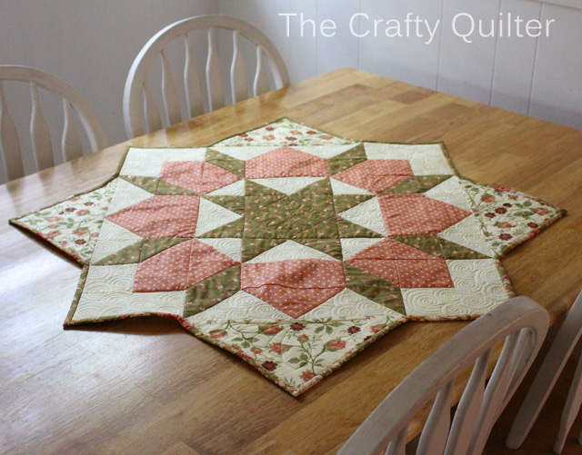 Swoon Table Topper @ The Crafty Quilter