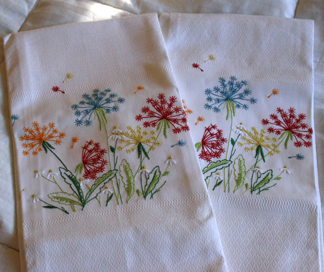 dandelion towels