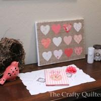 Hearts and Burlap Canvas Tutorial