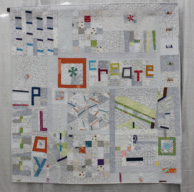"""1st Place, Group or Bee Quilts:  """"Playing with Little Bits"""""""