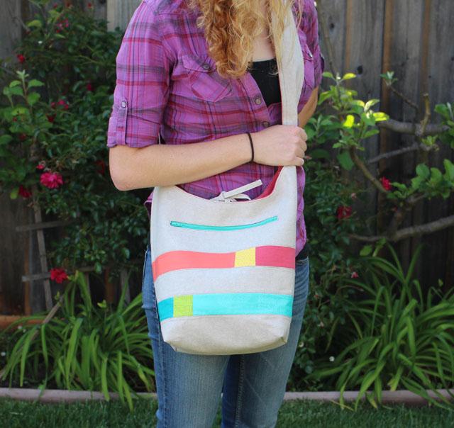Color Block Bucket Bag by Julie Cefalu, in Modern Patchwork Magazine