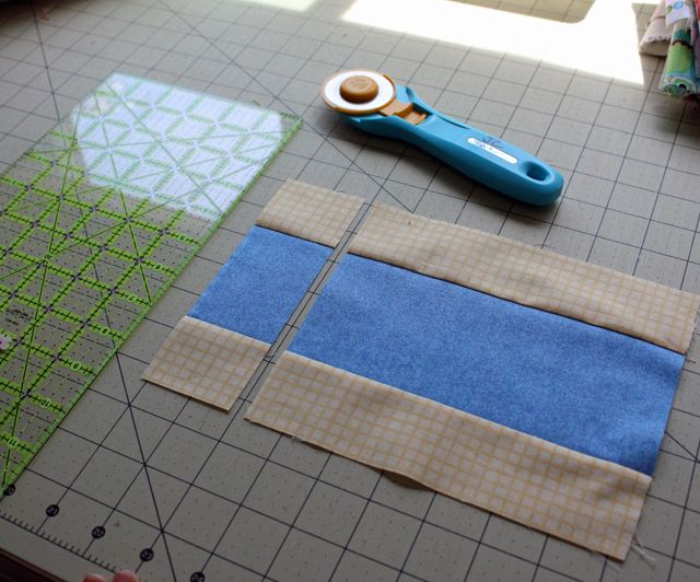 block 3 strip piecing