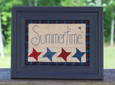 Framed Summertime by Jen Daly Quilts