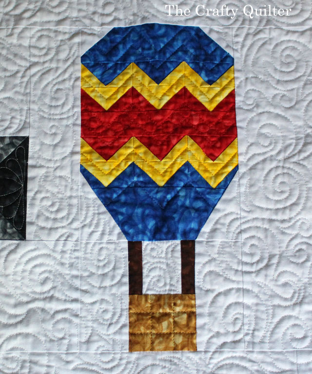 """Watch Out for Those Geese!"" designed and quilted by Julie Cefalu for the Jaftex Blog Hop"