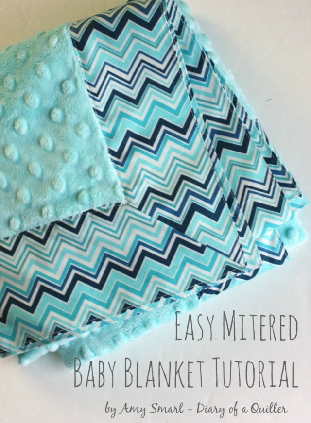 Easy-Mitered-Baby-Blanket-tutorial @ Diary of a Quilter