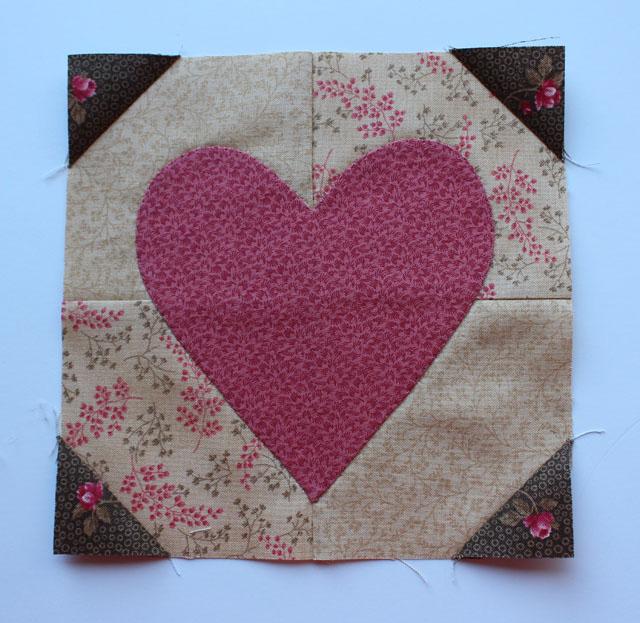 Hearts Aflutter Block made by Julie Cefalu