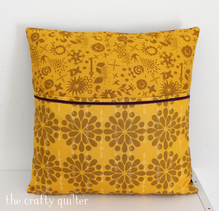 Monogram Pillow by Julie Cefalu, using faux rag quilting technique from Soft & Cozy Keepsakes by Margo Yang