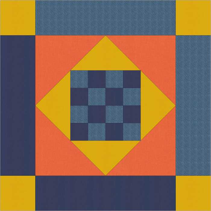 Amish Mini Quilt by Julie Cefalu