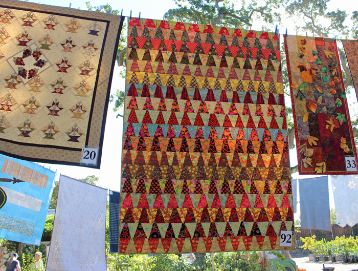 Quilting in the Garden, 2016, pictures taken by Julie Cefalu at The Crafty Quilter