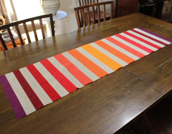 Pumpkin Spice Table Runner made by Julie Cefalu