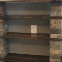 diy concrete block bookshelf