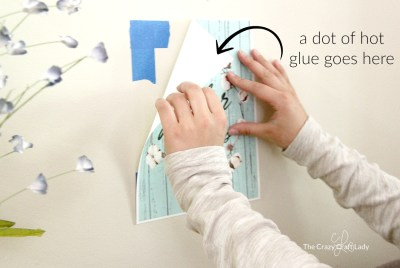 How to Hang a Poster - Damage-Free Hot Glue Hack - The Crazy Craft Lady