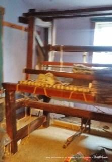 The rug loom.