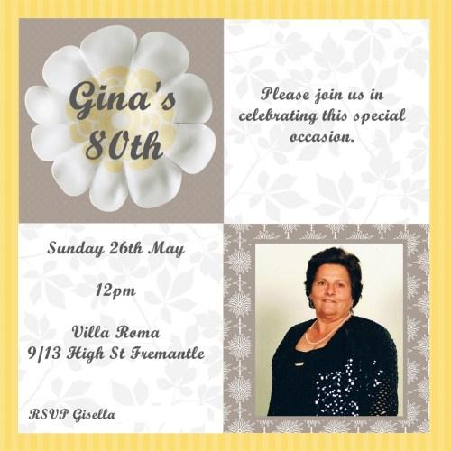 Medium Of 80th Birthday Invitations