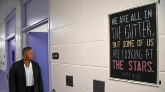 Superintendent Annette Miller, at J. DeWeese Carter Youth Facility, where inspirational posters are displayed throughout the building. Photo by Amy Davis/The Baltimore Sun