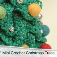 Crochet Christmas Topiary Tree