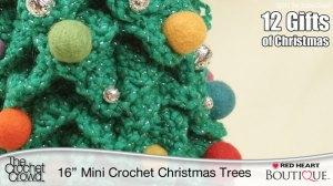 Mini Crochet Christmas Trees Pattern