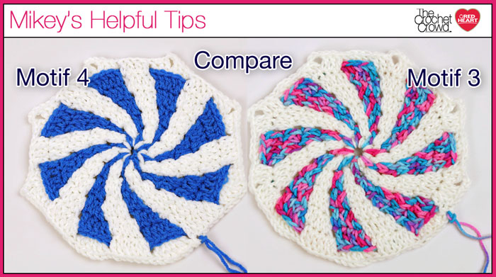 Peppermint Throw Motifs Comparison
