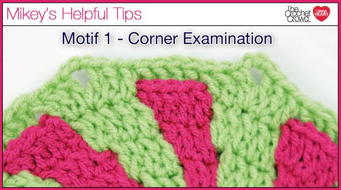 Crochet Motif 1, Corner Examination.