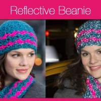 Crochet Reflective Beanie + Video Tutorial