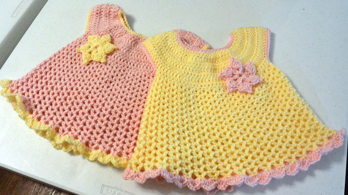How To Crochet Baby Dress Pattern : 11 Crochet Baby Dresses - The Crochet Crowd