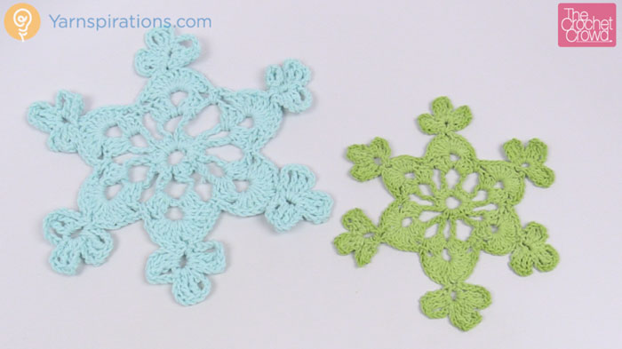 Crochet Snowflake Patterns For Beginners : Crochet Twinkling Snowflake #2 + Tutorial - The Crochet Crowd