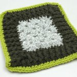 Rib Stitch Granny Square Border Pattern
