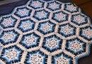 Winter Blizzard Snowflake Crochet Afghan + Tutorial